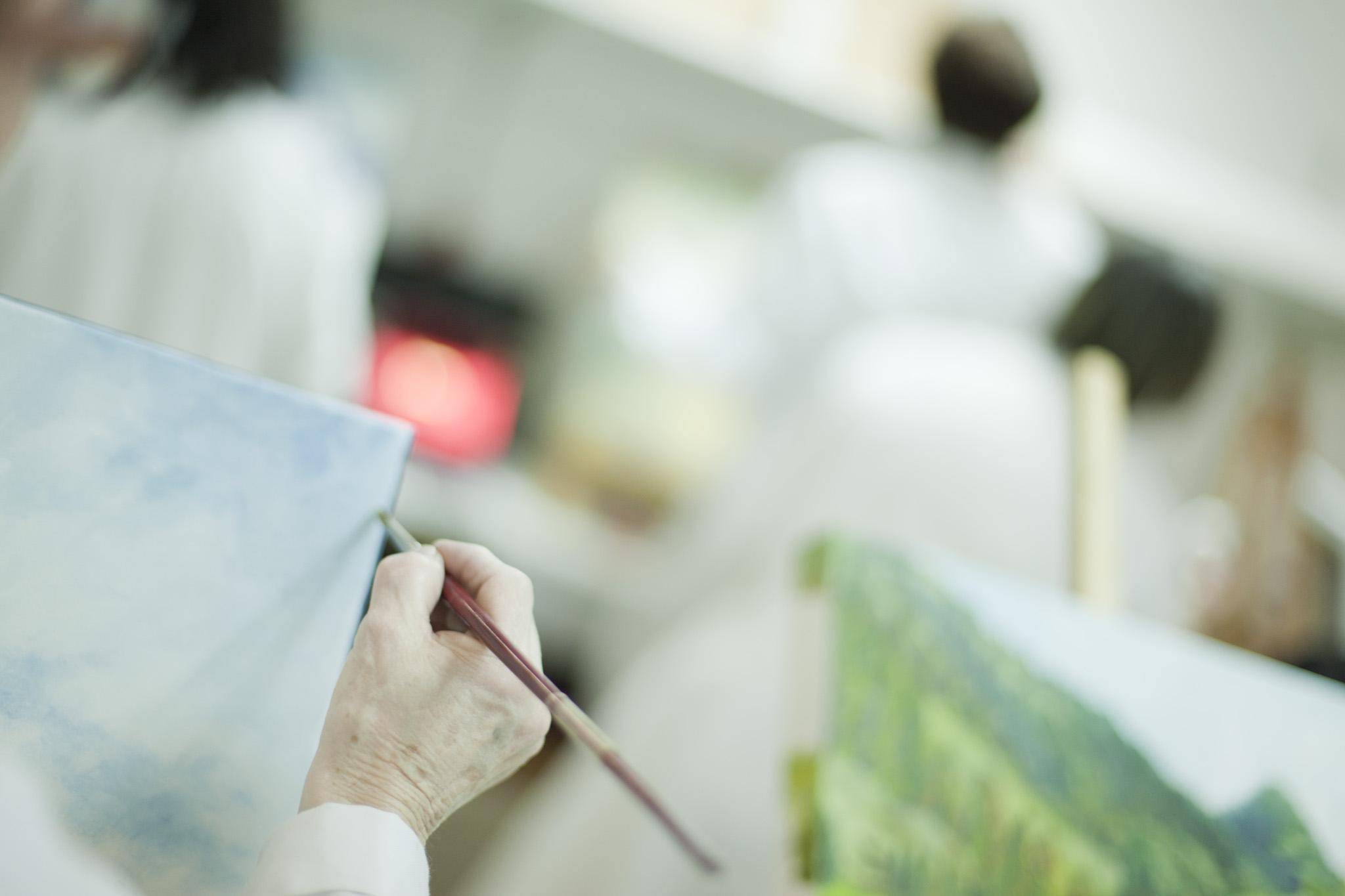 Taller de pintura para mayores del Ayuntamiento de Basauri