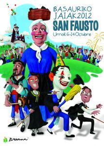 Cartel de fiestas de fiestas de Basauri 2012