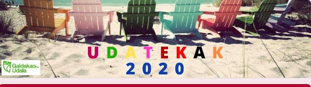 """Inscripción a las """"Udatekak"""" 2020 de Galdakao y Usansolo"""
