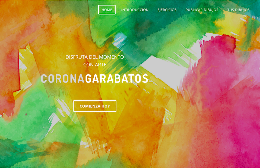 Home de la página Coronagarabatos creada por Ana Belén Cobo, monitora de pintura de SOINHEZI.