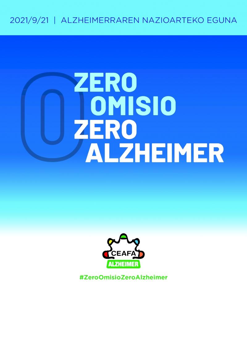 Alzheimerraren Munduko Eguneko kartela.