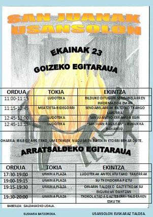 Cartel San Juan 2012 Usansolo