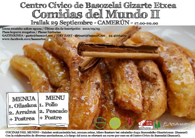 Cartel comidas del mundo Basauri