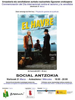 Cartel de película que se proyectará en el Día Internacional de la Discriminación Racial.