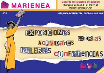 Programa de actividades de Marienea, centro con el colabora SOINHEZI.