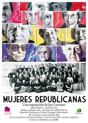 """Cartel exposición """"Mujeres republicanas"""""""