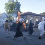 Celebración de la fiesta de San Juan en la ludoteca de usansolo